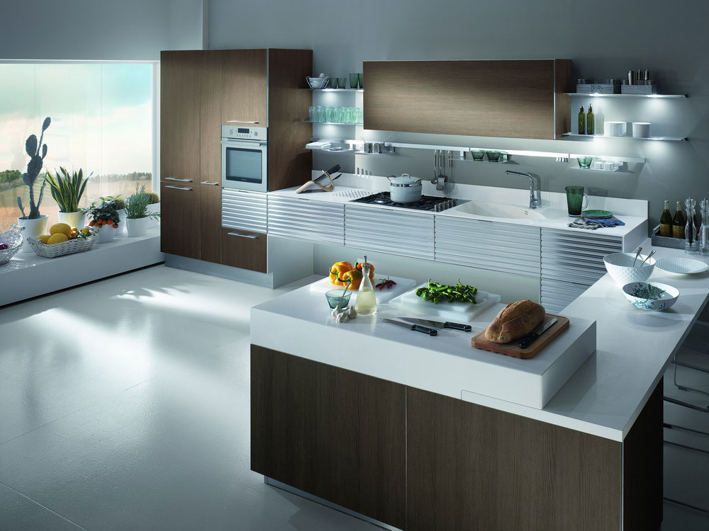 Cuisine en stratifie 3 photo de cuisine moderne design for Cuisines contemporaines design