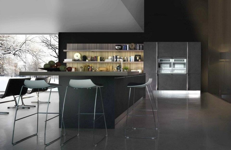 Cuisine en stratifie 1 photo de cuisine moderne design for Cuisine luxe bois