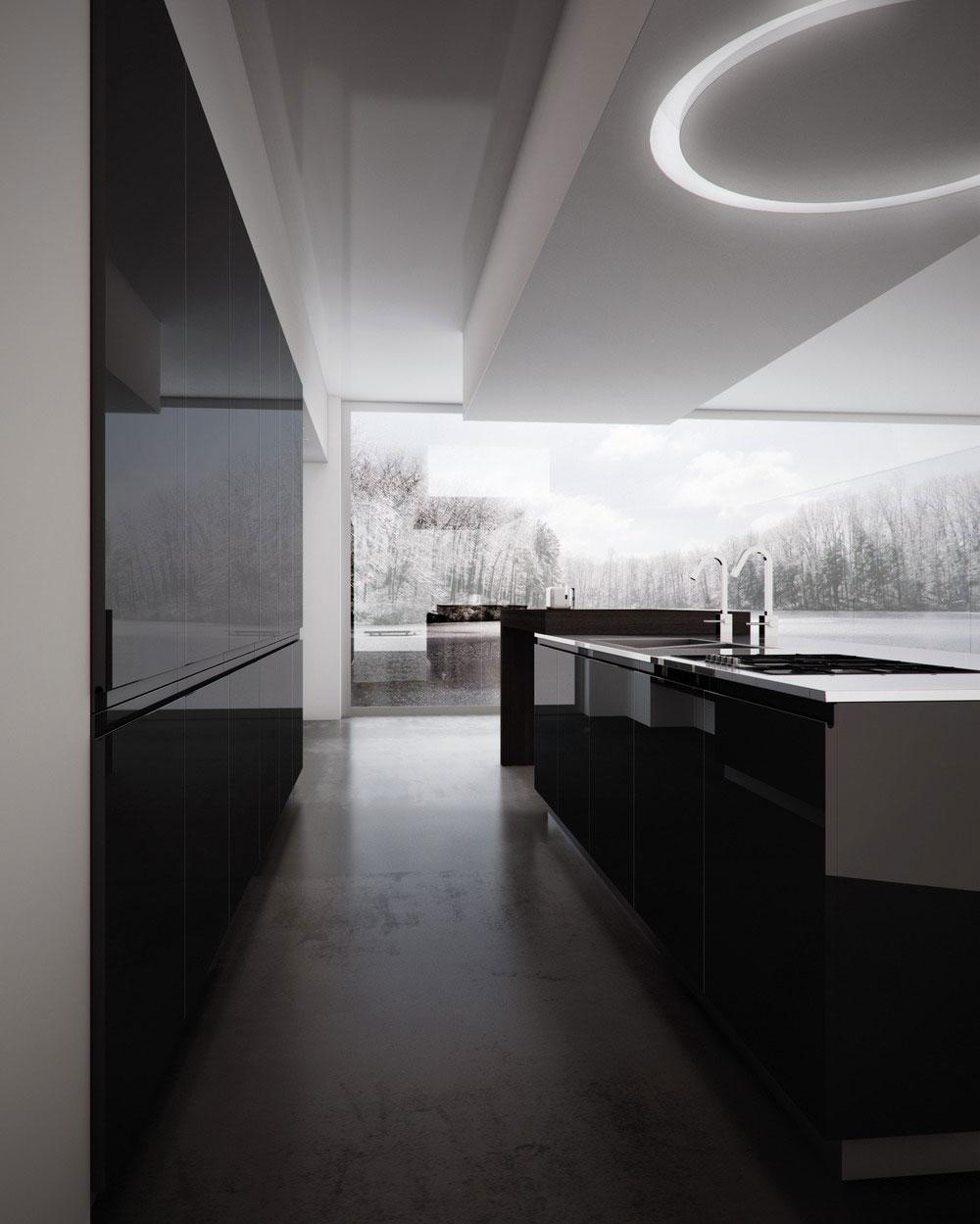 Cuisine moderne ilot - Vaisselle contemporaine moderne ...