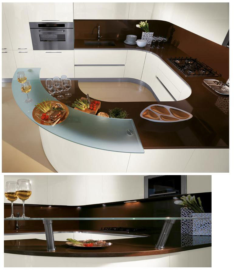 Cuisine ronde 12 photo de cuisine moderne design for Cuisine de luxe contemporaine