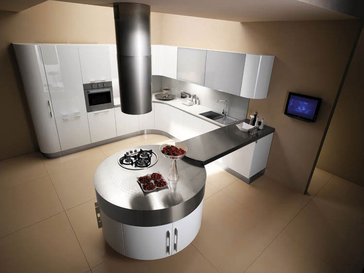 Grand Photo De Cuisine Moderne Design Contemporaine Luxe