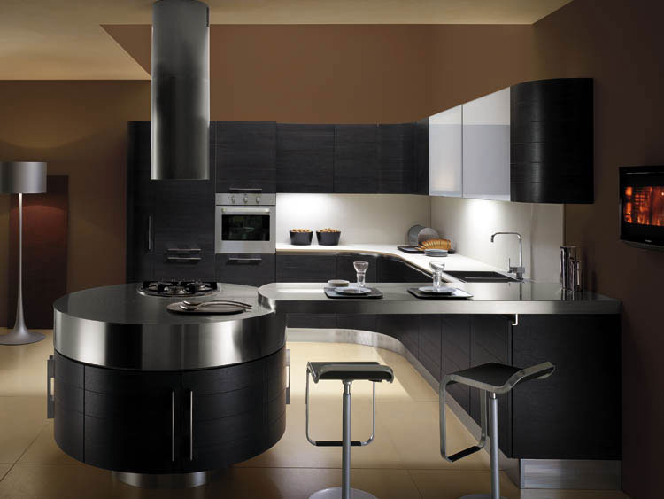 Cuisine ronde 20 - Photo de cuisine moderne design contemporaine luxe