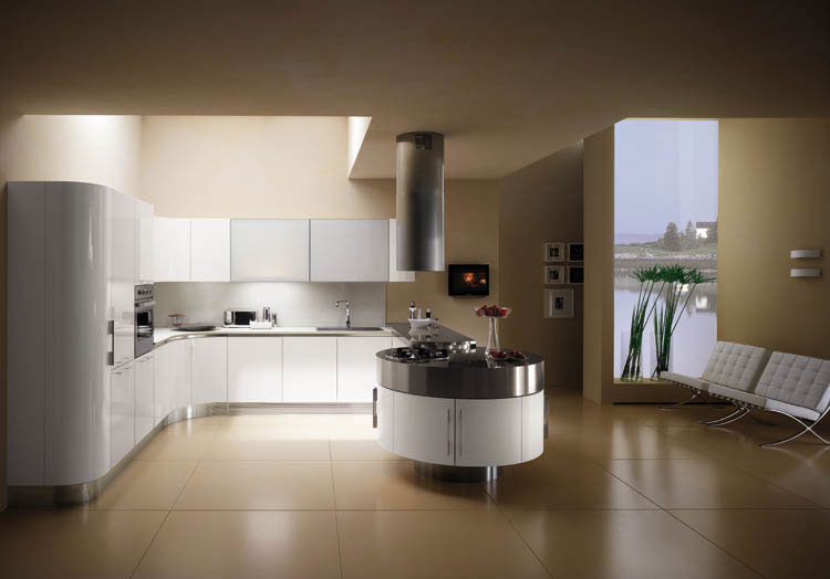 Cuisine ronde 22 photo de cuisine moderne design for Cuisine de luxe contemporaine