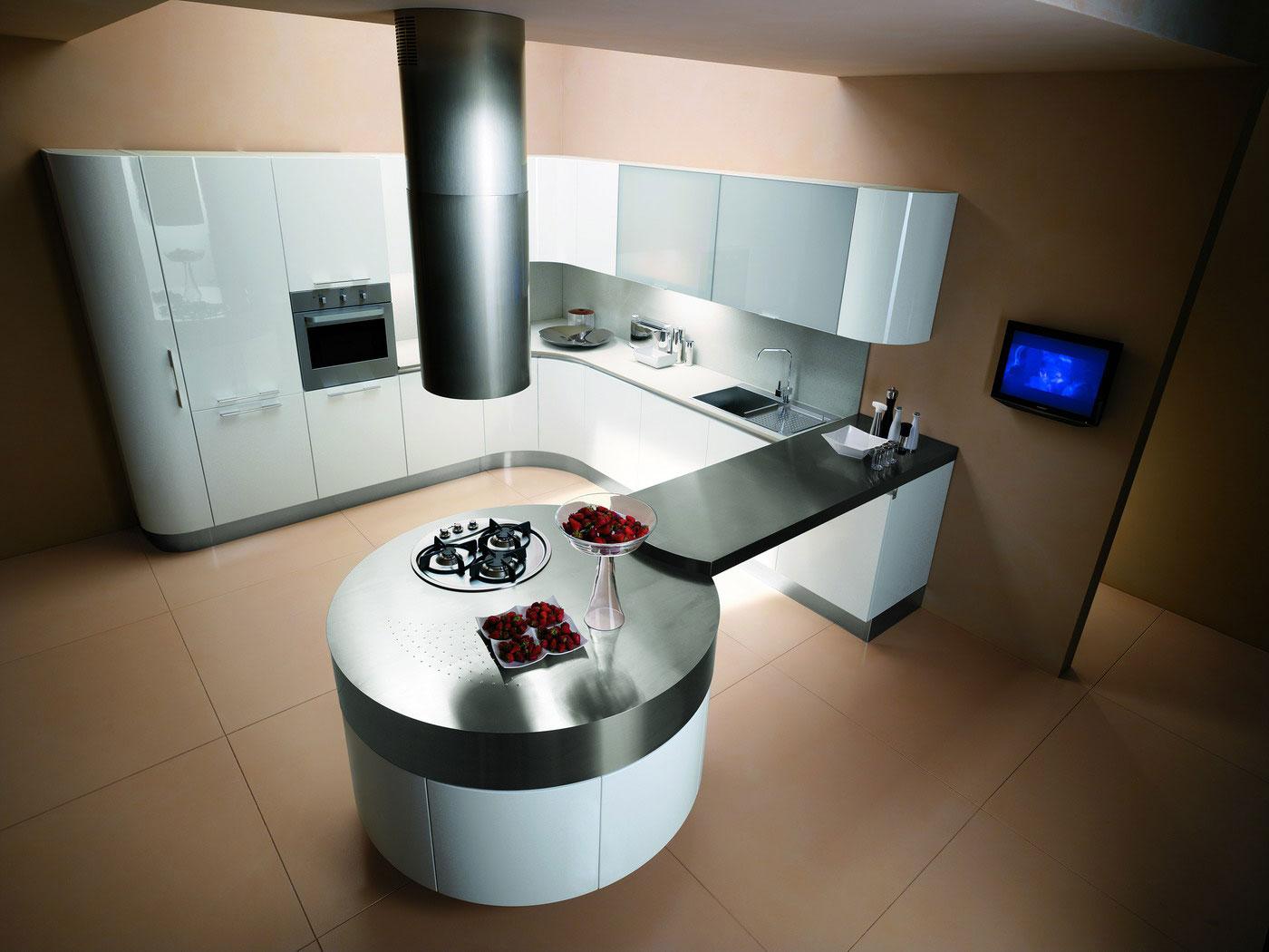 Cuisine ronde 7 - Photo de cuisine moderne design contemporaine luxe