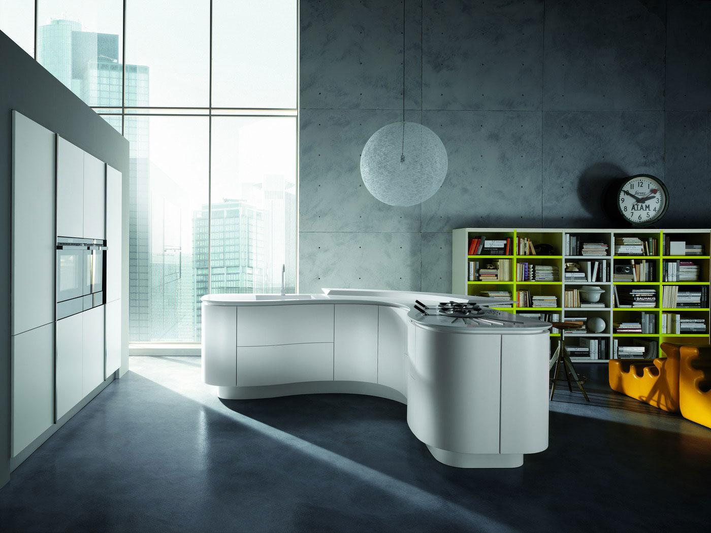 Cuisine ronde 9 - Photo de cuisine moderne design contemporaine luxe