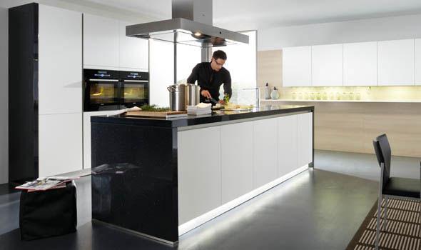 Cuisine sans poignees 21 photo de cuisine moderne design for Cuisine luxe moderne